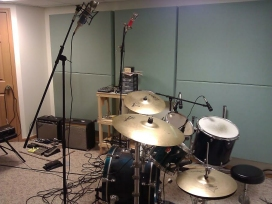 Studio shot with drumkit
